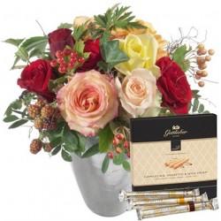 Bouquet avec gaufrettes