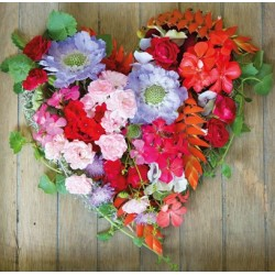Carte coeur de fleurs