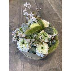 Boîte à fleurs printanière