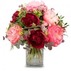 Bouquet de pivoines romantique