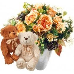 Délicat bouquet de roses...