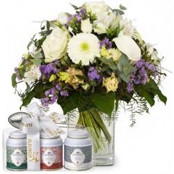 Bouquet avec 3 thés